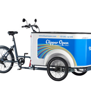 Vélo cargo triporteur mécanique, caisson ABS, Clipper Open