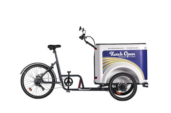 Vélo cargo triporteur mécanique, caisson ABS, Ketch Open