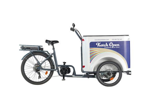 Vélo cargo triporteur à assistance électrique, caisson ABS, Ketch Open Shimano