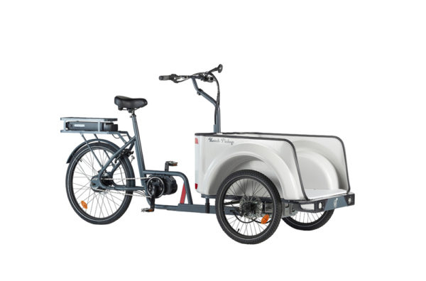 Vélo cargo triporteur à assistance électrique, caisson ABS, Ketch Pickup Enviolo