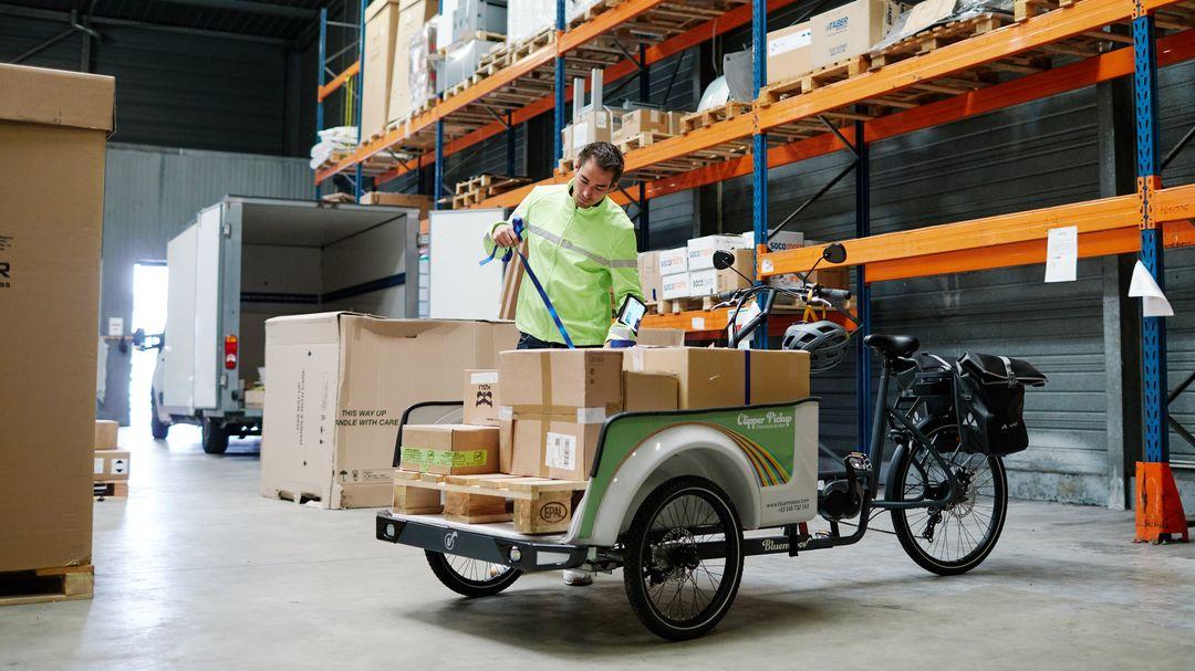 Livraison en vélo cargo. Projet de loi climat et résilience